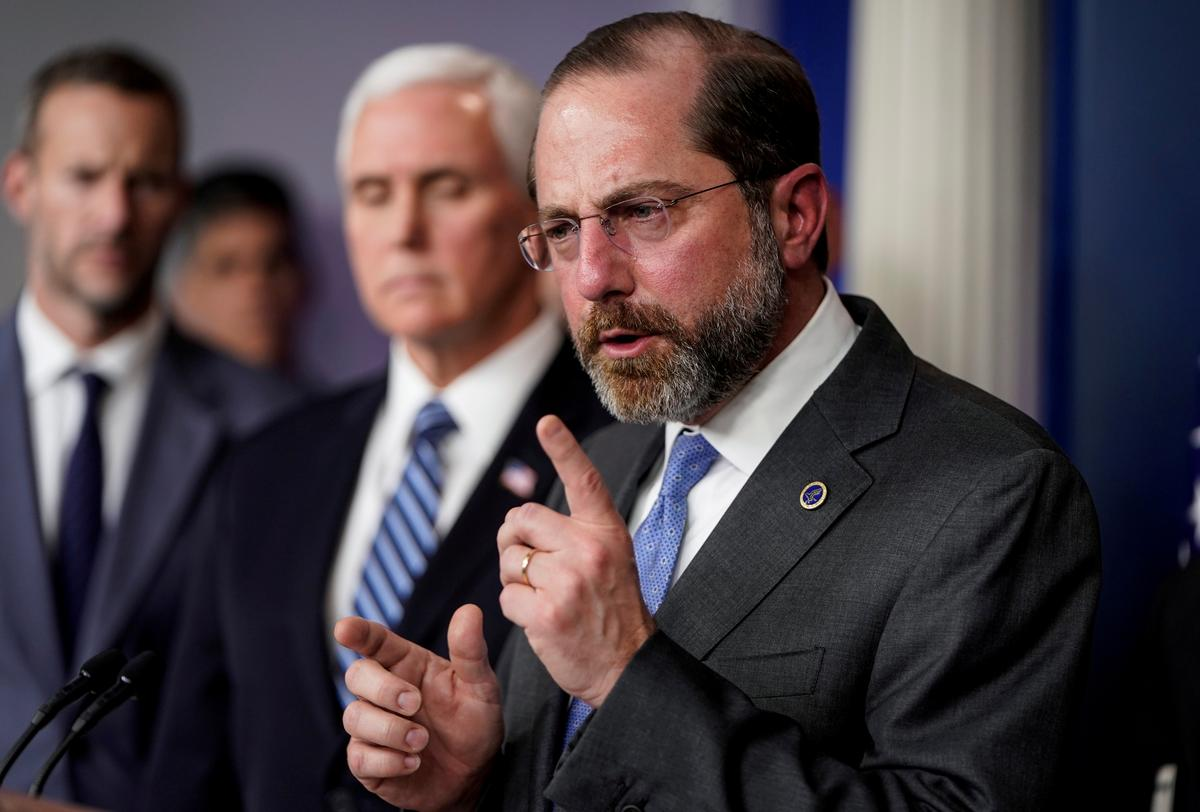 Trump rejects reports that he will fire HHS chief Azar