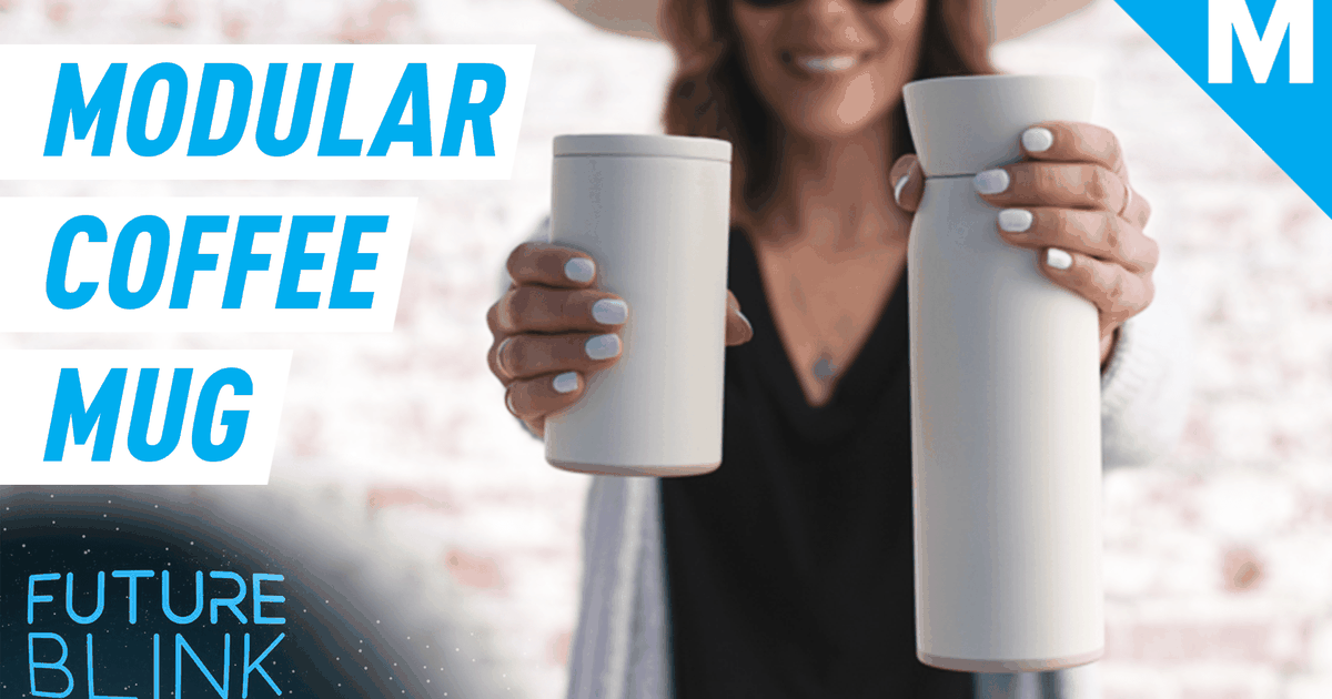 Stash both your coffee and water in this modular mug — Future Blink